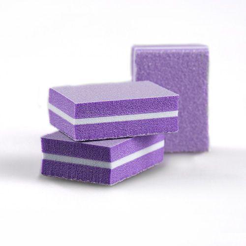 Бафы-мини RuNail универсальные фиолетовые 100/180 14 шт