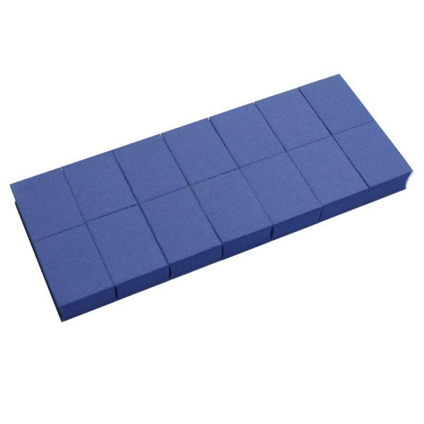 Бафы-мини RuNail универсальные синие 100/180 14 шт