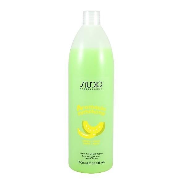 Бальзам Kapous Studio для всех типов волос Банан и Дыня 1000 мл