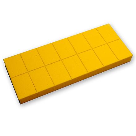 Бафы-мини RuNail универсальные желтые 100/180 14 шт
