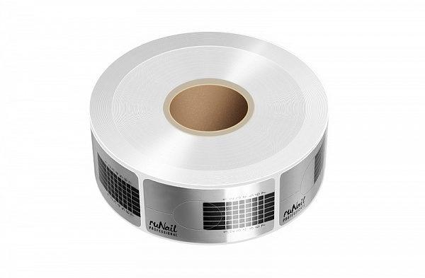 Формы RuNail одноразовые узкие серебряные 500 шт