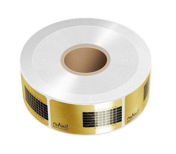 Формы RuNail одноразовые узкие золотые 10 шт