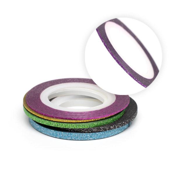 Нити RuNail № 02 фиолетовые голографик