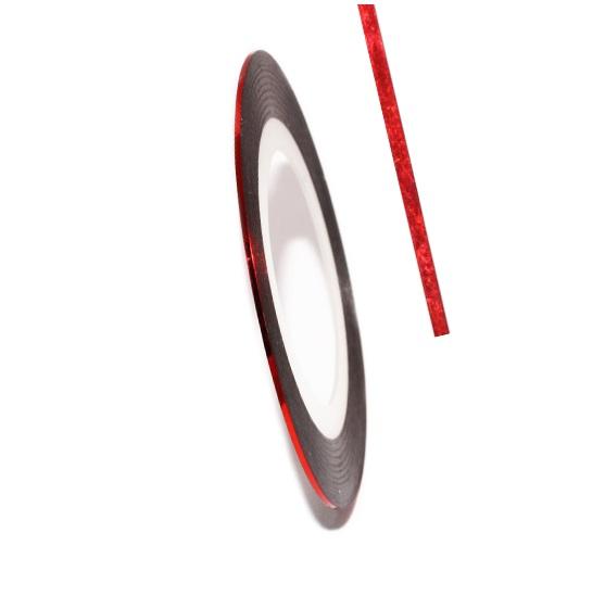 Нити RuNail № 08 красные голографик