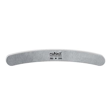 Пилка RuNail для искусственных ногтей серая бумеранг 180/200
