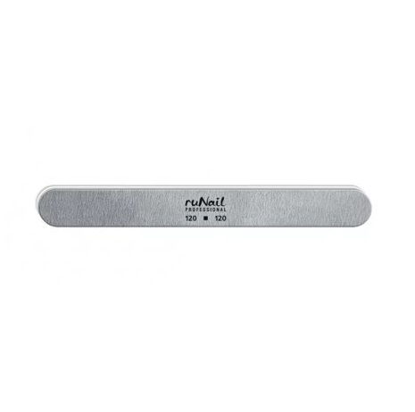 Пилка RuNail для искусственных ногтей серая закруглённая 120/120