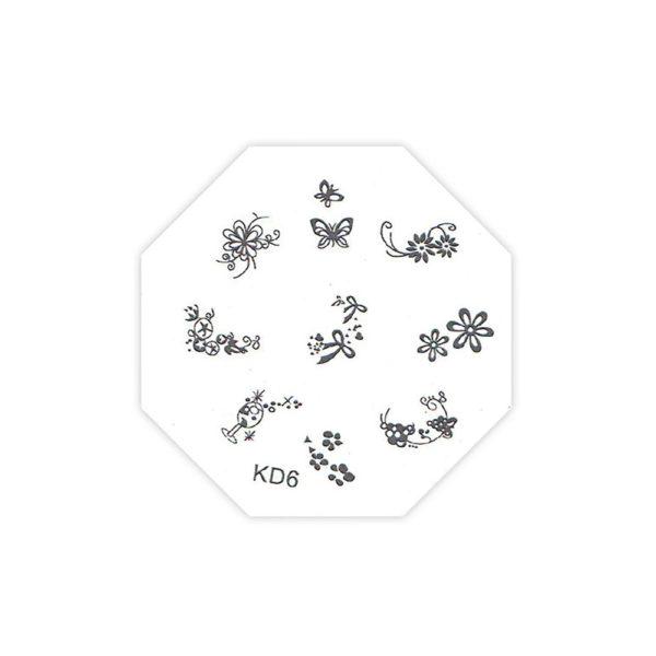 Трафарет TNL металлический для стемпинга KD-06